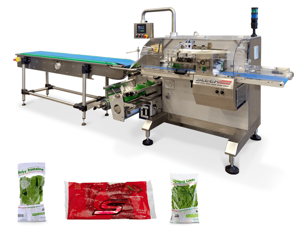 PrimoCombi and VerTek vertical form fill and seal machine packaging frozen corn into pouches