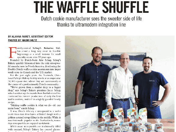 The waffle shuffle article cover