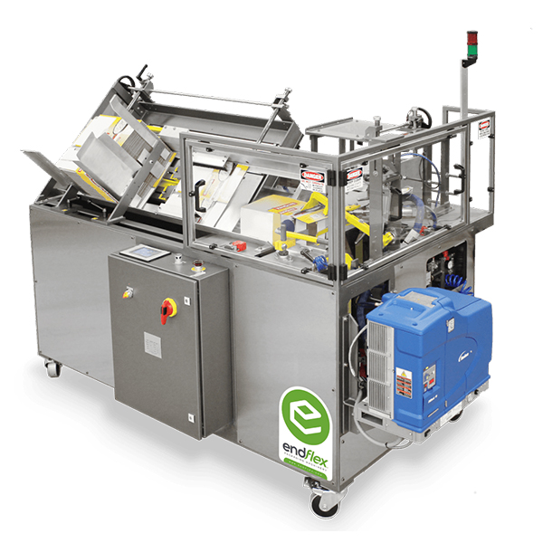 Automatic case erecting and glue packaging machine