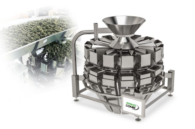 Cannabis flower and leaf weigh filling automated machinery