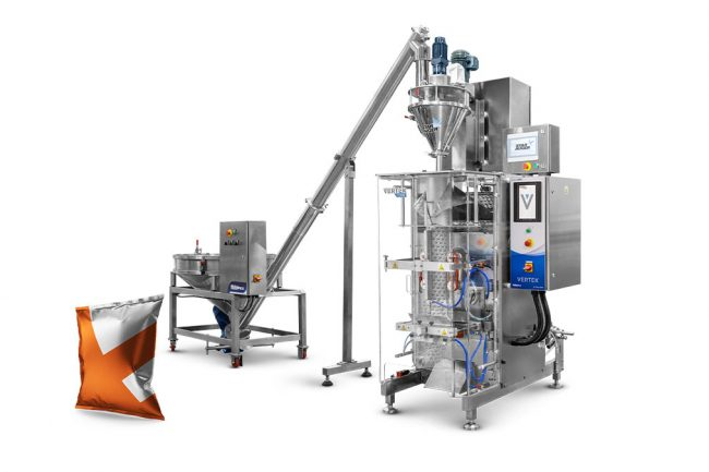 Form fill and seal machinery with example bagging