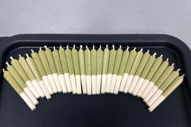 JuanaRoll pre roll joint filled products lined up