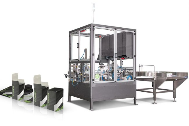 Cartoning cannabis product with automated packaging machinery